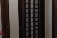drzwi harmonijkowe 85cm oraz zabudowa plexi